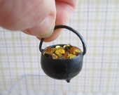 St. Patrick's Day Pot of Gold Coins - Dollhouse Miniatures - Fairy Garden