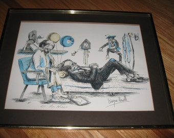 "WAYNE HOWELL ""It's Your Nickel"" Artists Proof Hand Signed 16 1/4"" x 20 1/4"""