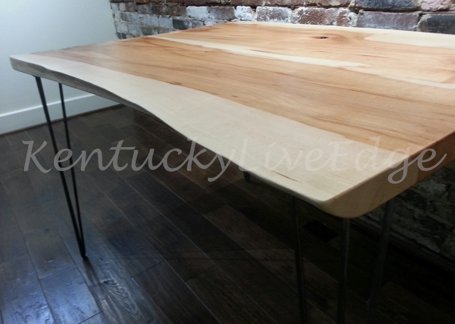 Natural Wood Dining Table Live Edge Kitchen by KentuckyLiveEdge