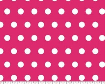 Tiny Dot --- Shocking Pink Polka Dot Fabric -----100 Percent Cotton --- Fabric By The Yard