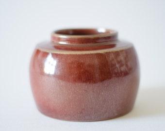 Carl Harry Stålhane - Rörstrand Sweden Atelje - vase - oxblood lustre glaze - collectible - mid century