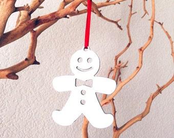 Christmas Tree Ornament - Gingerbread Ornament - Custom Keychain