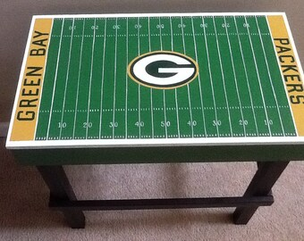 Custom Man Cave Sports Team End Table with your favorite Team!