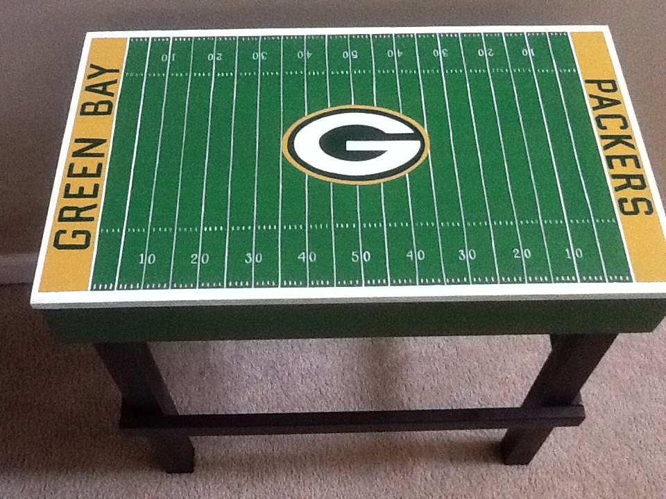Man Cave End Table : Custom man cave sports team end table with by
