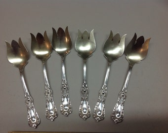 Sterling Silver Ice Cream Spoons/ Forks Saart Bros.