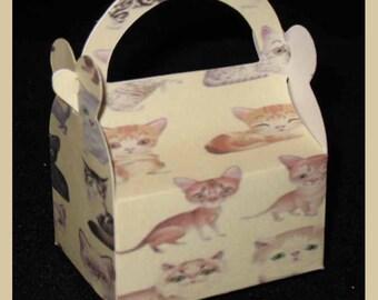 cat favor box, kitty party favor box, pet favor box, cat party favor box, cat birthday gift favor boxes
