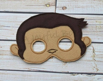 Curious little monkey mask(Please note the shipping time frame!)
