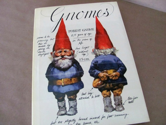 Vintage Gnome Book 1970 S Gnomes Art Book Coffee Table