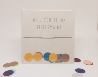 Sterling Silver Friendship Bracelet - Will you be my bridesmaid? - Walnut
