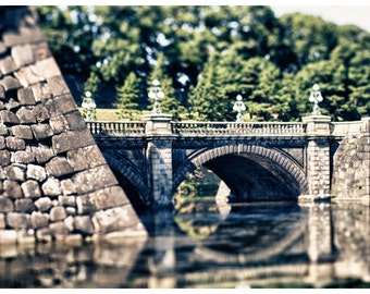 Travel Photography, Tokyo, Japan, Imperial Palace, Metallic Photographic Print