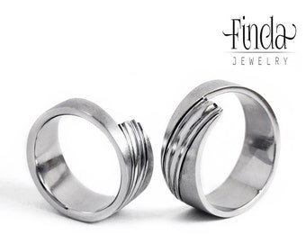 Modern style stainless steel wedding band