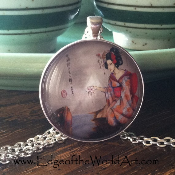 Necklace gift to the great koi geisha and koi fish for Koi fish gifts