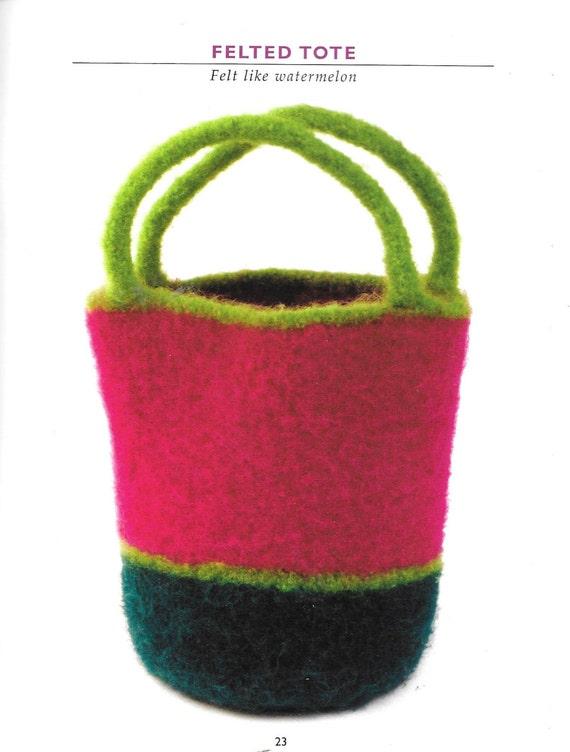 Weekender Bag Knitting Pattern : Vogue Knitting Bags Two Tote Bag Weekender Bag Felted Tote