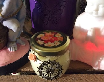 Orange and Rose Petal Scented Candle