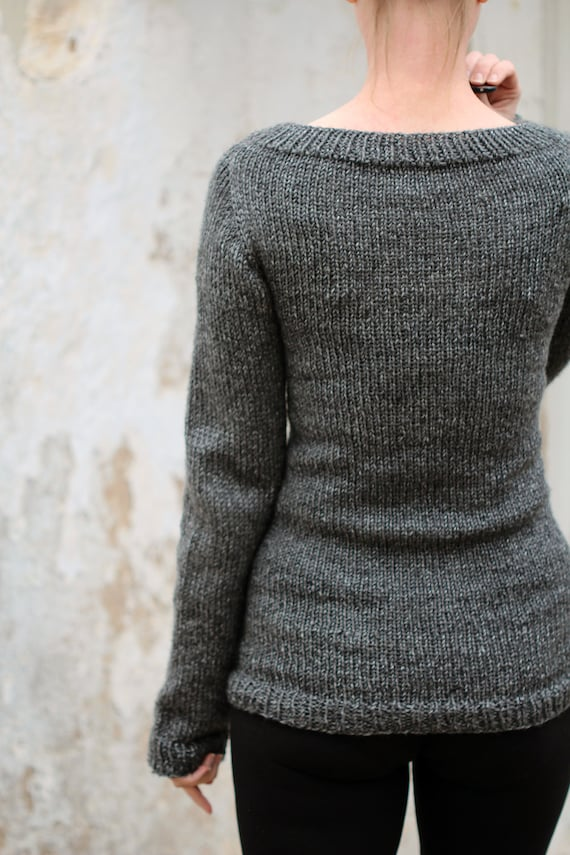 Knit Sweater Knitting Pattern Great beginner by bromefields