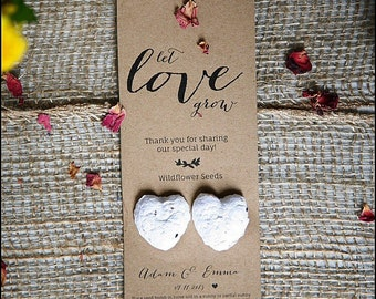 Australian Made Wedding Favours, Plantable Wildflower Seed Bombs, Personalised, 100% Recycled Card, Eco- Friendly, wholesale