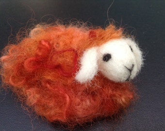 Needle Felted Sheep Brooch Lamb