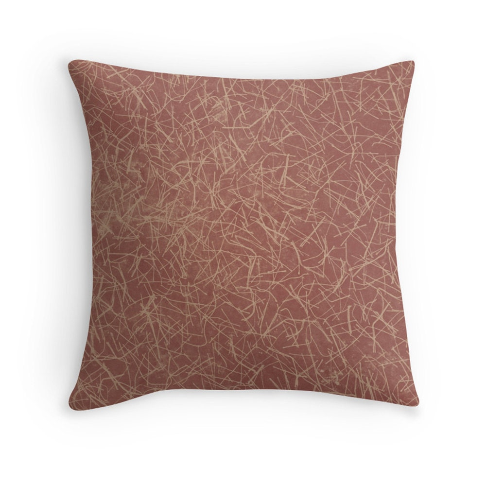 Modern Abstract Pillow : Marsala Throw Pillow Modern Art Decorative Pillow Abstract
