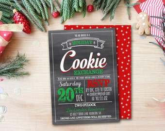 Cookie Exchange Invitation PRINTABLE - Cookie Swap - Holiday Party