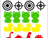 "Adorable & Useful ""Potty Targets"" for Little Aimers - Potty Training - Vinyl Decals - Toddlers - Toilet - Helpful - Gift"