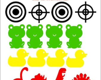 """Adorable & Useful """"Potty Targets"""" for Little Aimers - Potty Training - Vinyl Decals - Toddlers - Toilet - Helpful - Gift"""