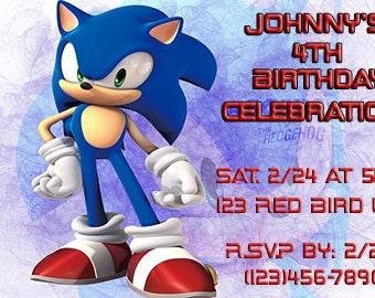 Sonic the Hedgehog Printable Birthday Invitation
