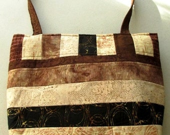 Stripe tote bag with pockets