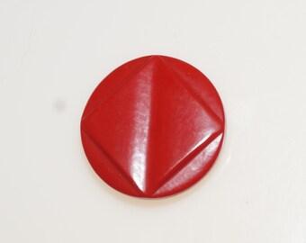 """Vintage Red Bakelite 1 1/8"""" Round Button"""
