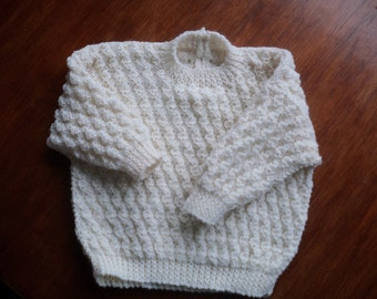 Handknitted Cream Jumper