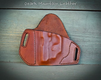 Leather holster for Sig Sauer p938 with laser light scope and other gun models