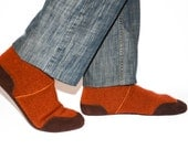 Mens Wool Slippers with Suede Leather Soles,  Men Cashmere Shoes, Eco-friendly Men Cashmere Socks. Men size  6.5 -16
