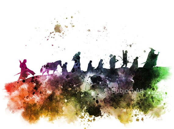 The Fellowship Lord Of The Rings Art Print By Subjectart