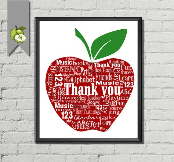 Teacher Appreciation Gift Apple Thank on Apple Poems For Teachers
