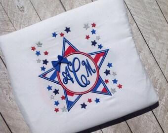 Fourth of July monogram star