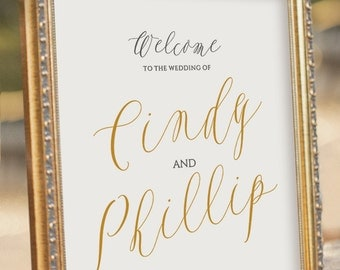 ELEGANT Personalised Printable Welcome Sign - Wedding Reception Sign