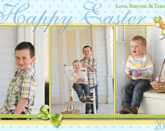 Easter Greeting Photo Cards - Personalized Printable Digital File