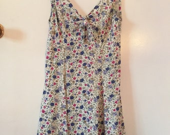 SALE 90s floral micro mini dress or top