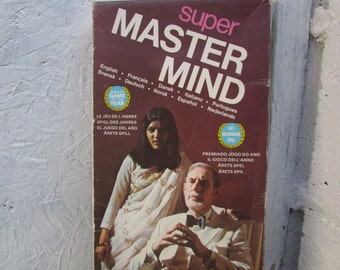 SUPER Master Mind Game. Game 1975. Game is Complete, and Box Repaired.