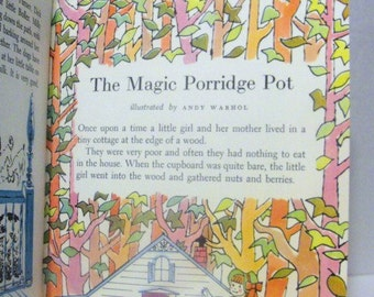 Andy Warhol 1959 Eight Page Illustrations in Children's Book, Story Titled The Magic Porridge Pot