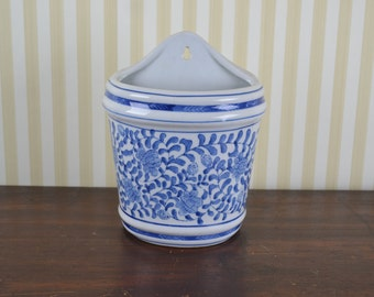 Vintage Chinoiserie Wall Planter