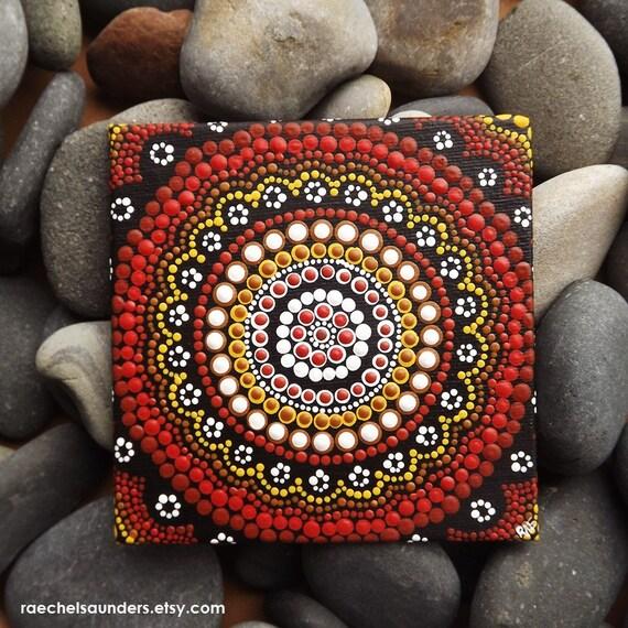 authentische kunst der aborigines dot acryl malen board. Black Bedroom Furniture Sets. Home Design Ideas