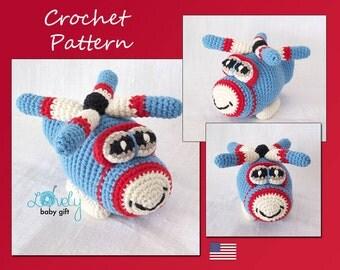 Amigurumi Pattern, Helicopter Crochet Pattern, Pdf Crochet Pattern, CP-121