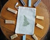 TEN Soap Sampler Sticks nestled in Muslin Bag, Soap sample set, Stocking Stuffer, Travel soaps, Shower Favors