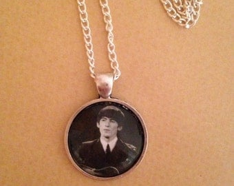 George Harrison/ The Beatles Pendant Necklace Handmade Unique