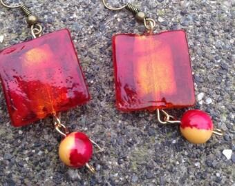 Fire in Ice Earrings