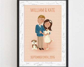 Personalized Wedding Poster (Guest book Alternative OR Wedding/ Anniversary Gift)