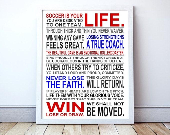 Soccer Coach Gift - Custom Manifesto Poster Print