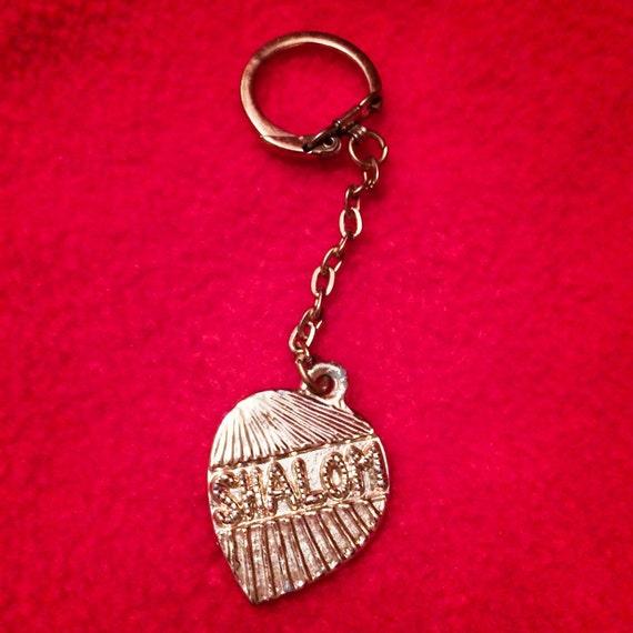 Vintage Cutty Gold Tone SHALOM Key Ring Chain