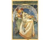 Alphonse Mucha: Princezna Hyacinta - Vintage Art Nouveau Poster/Print