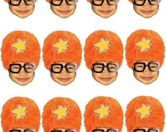 DIY digital Photo cupcake toppers Yo Gabba inspired